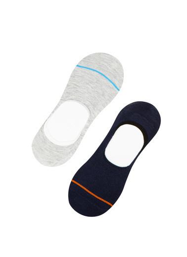 Penti Lacıgrı Erkek Lıttle Lıne 2Li Babet Çorap Mavi